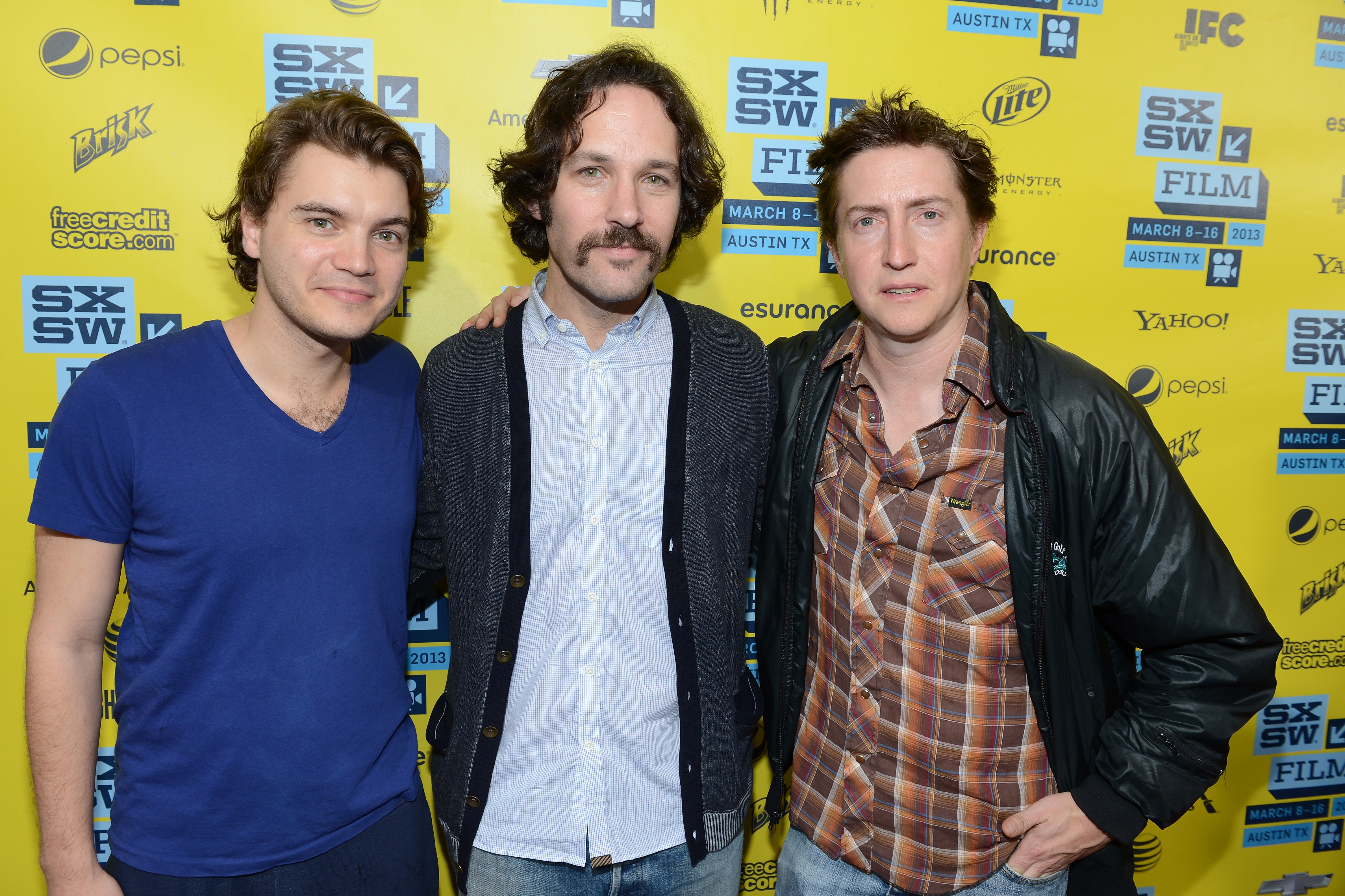 Paul Rudd hit the red carpet with Emile Hirsch and David Gordon Green for the Prince Avalanche screening at SXSW.