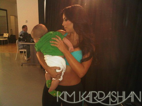 Kim Kardashian shared this picture of her and her nephew, Mason Disick, for St. Patrick's Day on her blog in March 2010. Source: Kim Kardashian