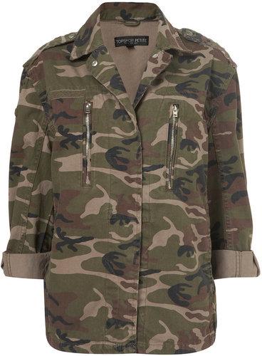 Petite Camo Army Jacket