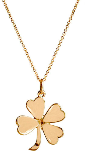 Jennifer Meyer Gold Four-Leaf Clover Pendant Necklace