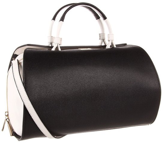 Furla Handbags - Venus M Bauletto (Onyx/Luce) - Bags and Luggage