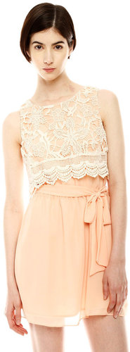 Under Skies Layered Lace Dress