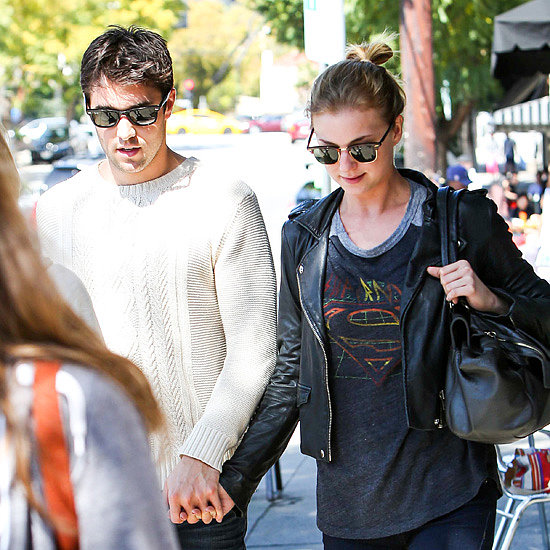Emily VanCamp and Joshua Bowman Holding Hands in LA