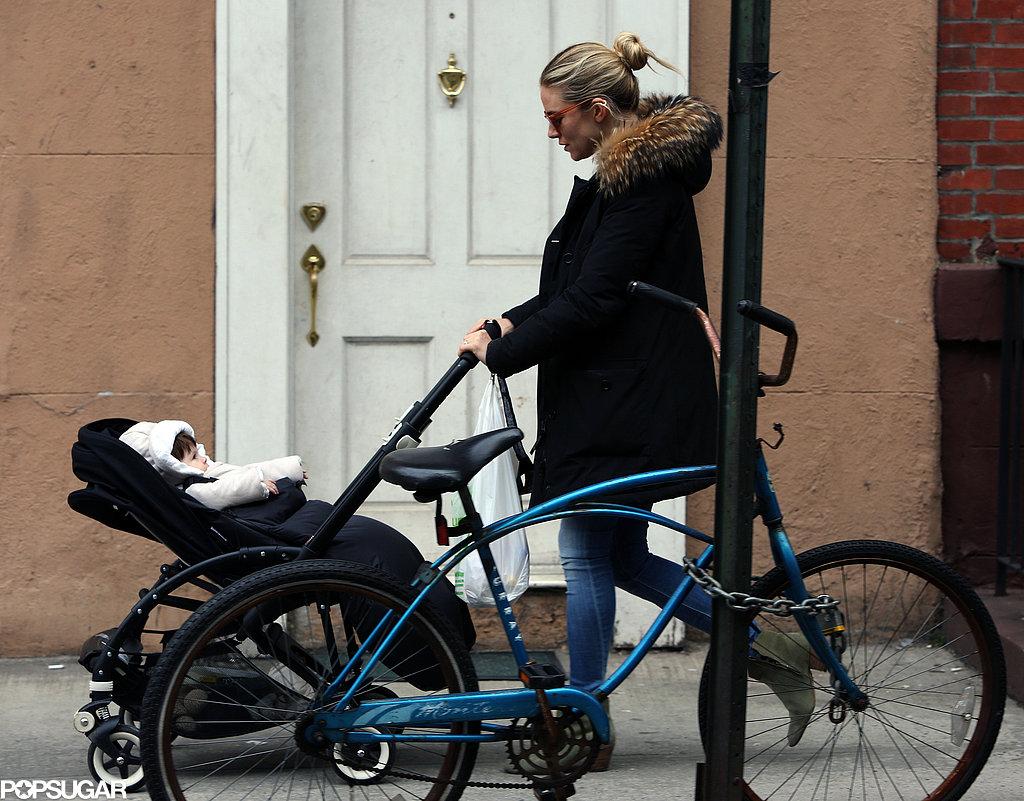 Sienna Miller Strolls Through the City With Baby Marlowe