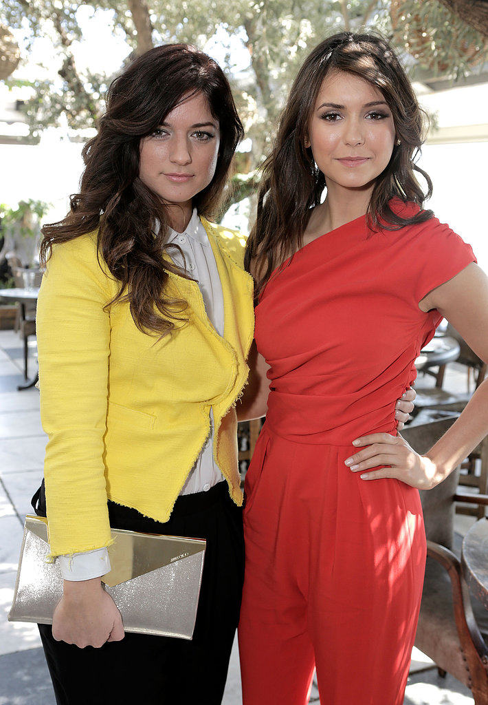 Nina Dobrev posed with stylist Ilaria Urbinati.