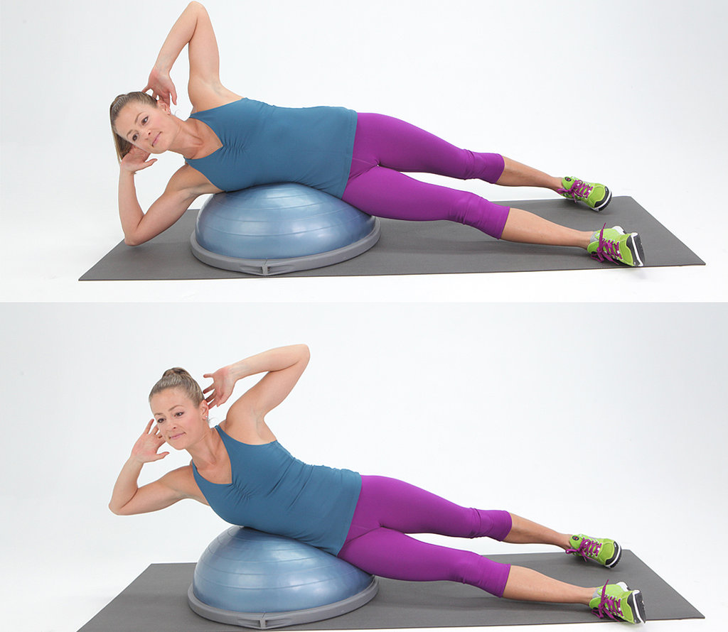 Bosu Ball Side Jumps: POPSUGAR Fitness