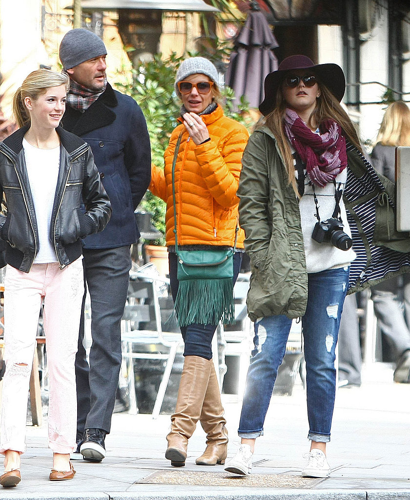Faith Hill held onto her husband, Tim McGraw, as they saw London with their three daughters.