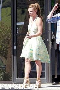 Britney-Spears-wore-green-sundress-LA