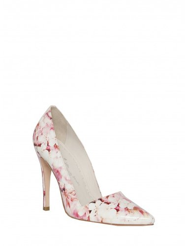 Dina Cherry Blossom Printed Smooth Printed Heel