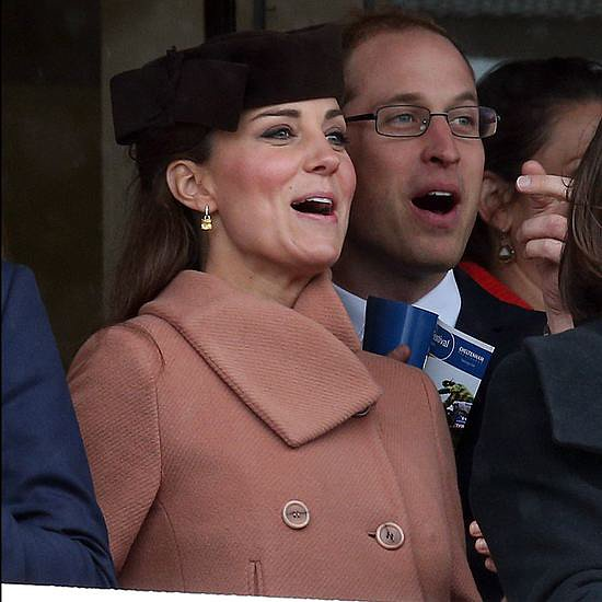 Pregnant Kate Middleton at Horse Race | Video