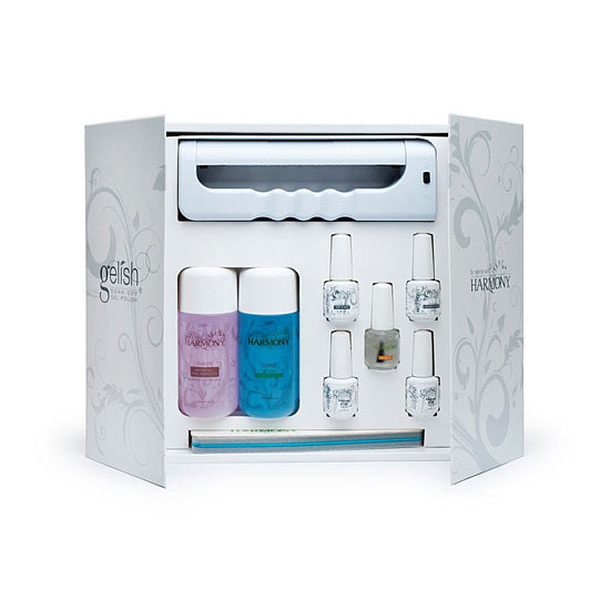 Gelish is one of the popular in-salon brands that cures gel polish using LED lights. And with its Starter Kit ($100), you can channel your inner manicurist at home. It comes with a portable light, two polish shades (a warm pink and a glittery pink), and everything else you need  to do your own gel nails.