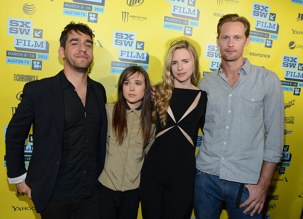 Zal Batmanglij, Ellen Page, Brit Marling, and Alexander Skarsgard linked up for The East premiere at SXSW.