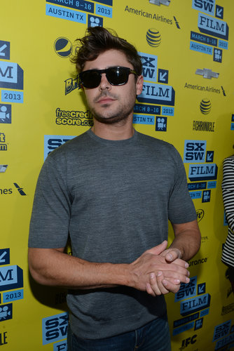 Zac Efron wore sunglasses on the red carpet at SXSW.