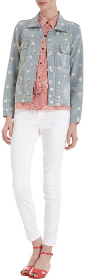 Marc by Marc Jacobs Dotted Denim Jacket