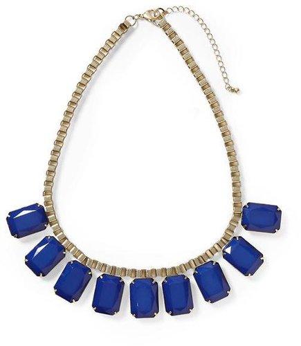 Pim + Larkin Blue Faceted Jewel Necklace