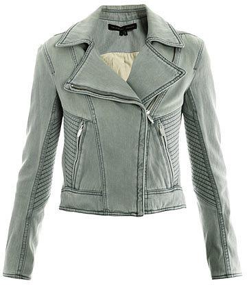 "[a href=""/womens/theyskens-theory""]Theyskens' Theory[/a]              Denim biker jacket"