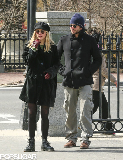 Bradley Cooper walked with Suki Waterhouse in Boston.