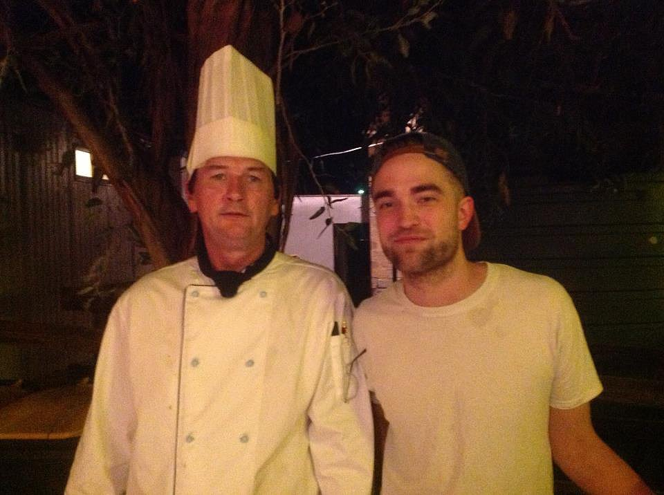 Robert Pattinson celebrated at the wrap party for The Rover.  Source: Facebook user Brendon O'Brien Chef