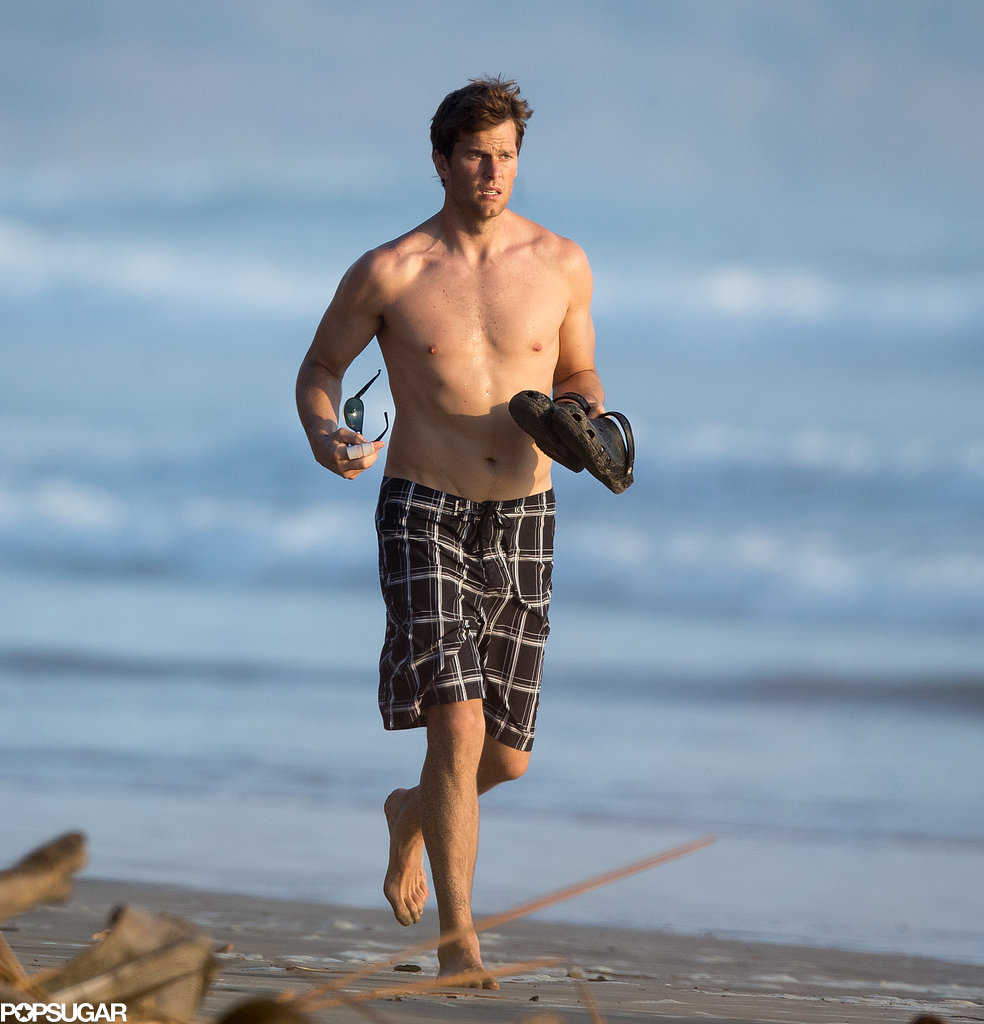Tom Brady went shirtless in Costa Rica.