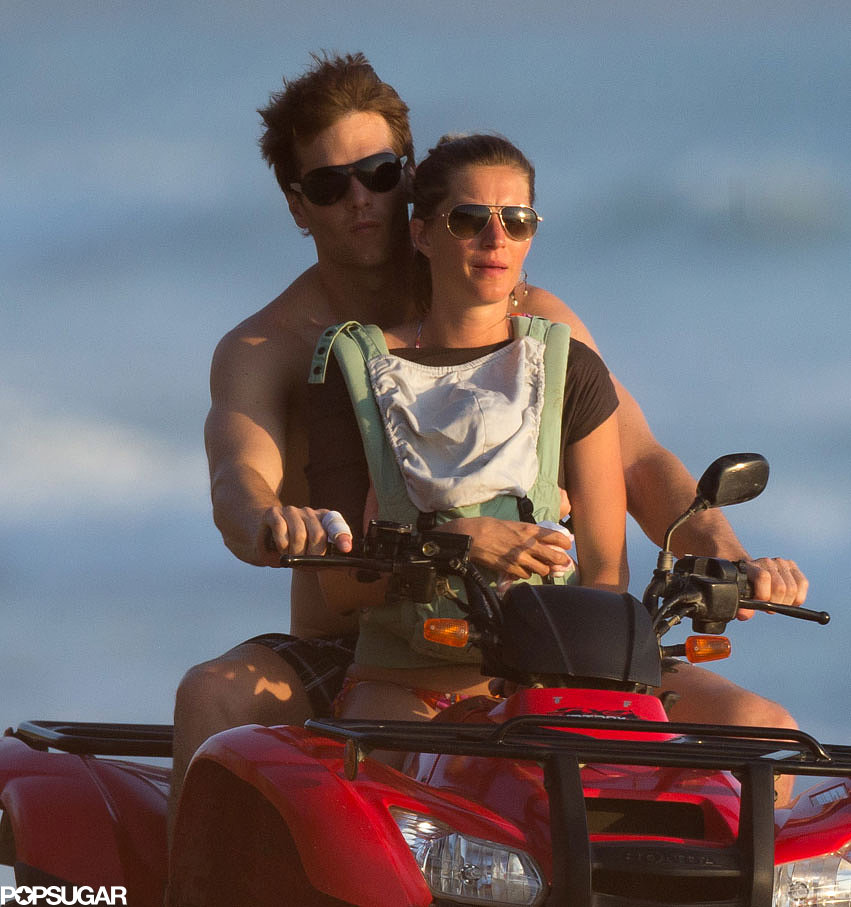 Tom Brady and Gisele Bündchen took Vivian on a beach ride.