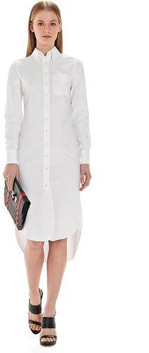 Button-Down Shirt Dress with Mitered Cuffs
