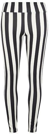 White/black striped pants