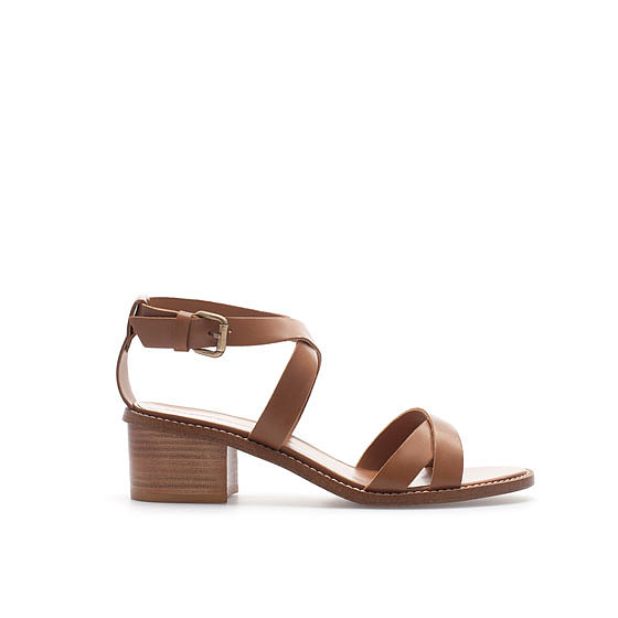 Zara's block-heel strappy sandal ($90) could quickly become a wardrobe staple, thanks to its neutral hue and walkable heel. It's right on trend with a stacked wood heel, and more importantly, it will literally go with everything in your closet.