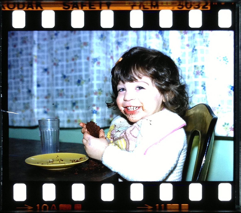 """""""Me at 2 years old. Definitely inherited my sugar tooth early."""" —  Jenny Sugar, contributing editor, POPSUGAR Fitness"""