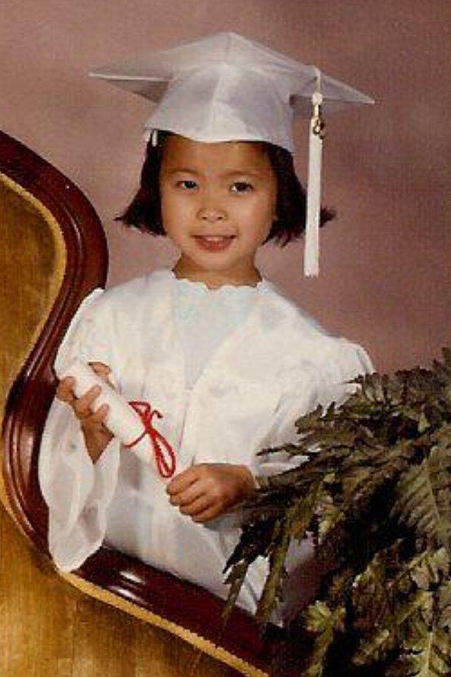"""""""Kindergarten graduation!"""" —  Chi Diem Chau, editor, POPSUGAR Shopping"""