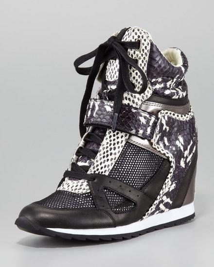 Rachel Zoe Geri Mixed Material Wedge Sneaker