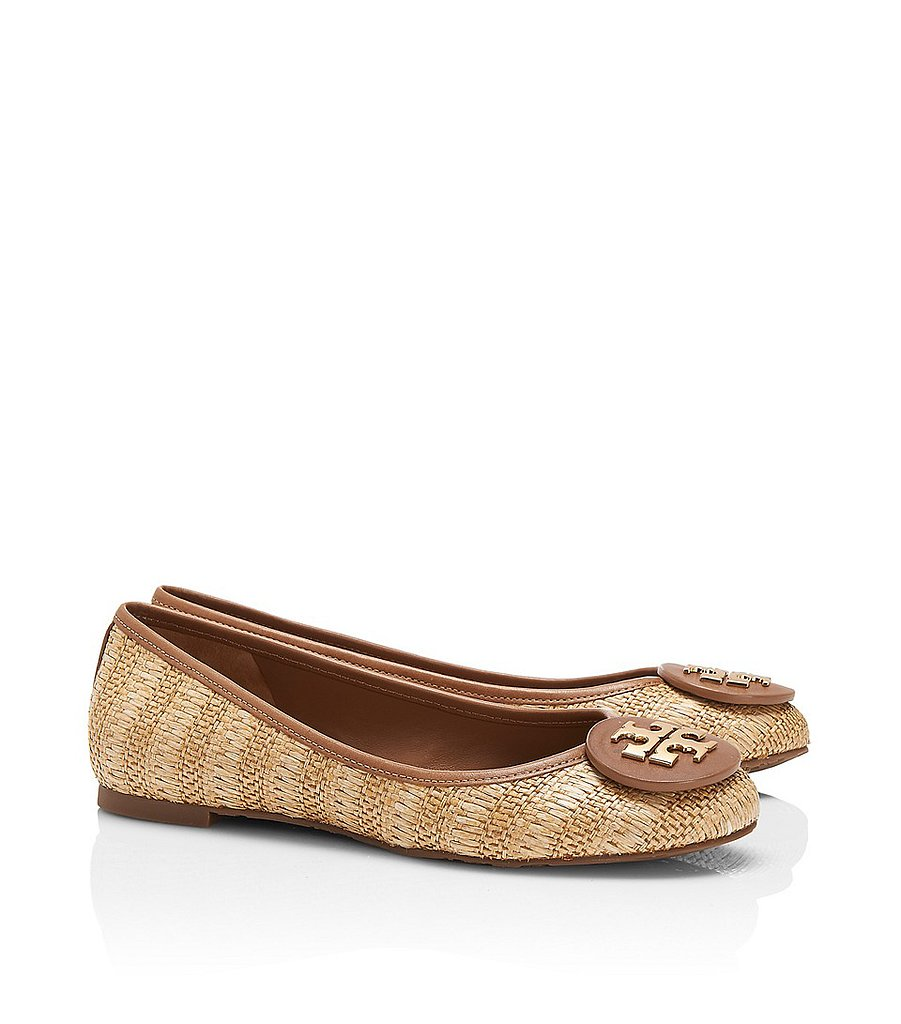 Add a refreshing twist to your flats assortment with these woven Tory Burch Reva ballet flats ($149, originally $235).