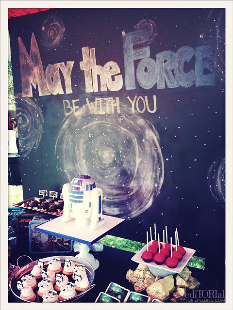 Tori Spelling brought the force and then some to her son Liam's sixth birthday party.  Source: ToriSpelling.com