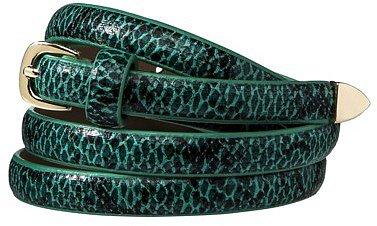 Merona® Animal Skin Skinny Belt - Green