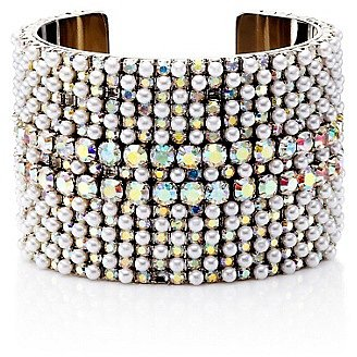 Pearl and Rhinestone Cuff