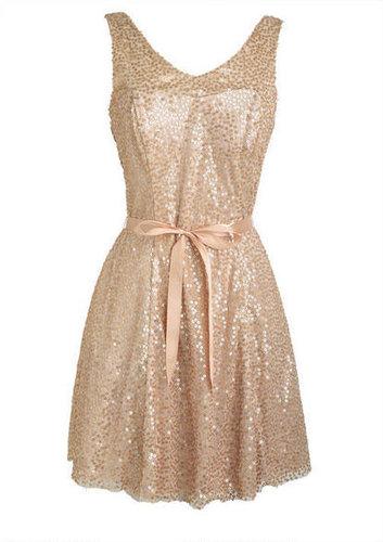 Gold Ribbon Dress
