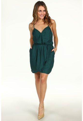 BCBGeneration - Pleat Front Crisscross Strap Dress (Aspen Green) - Apparel