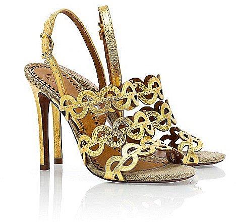 Tory Burch Metallic Ginny Sandal