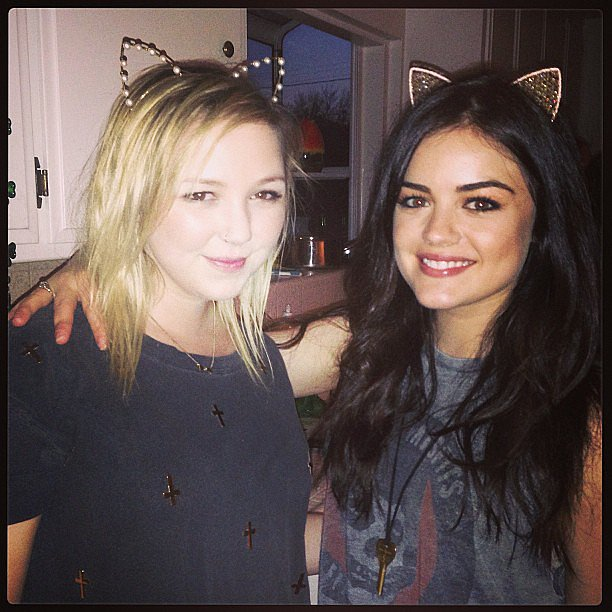 Meow! Lucy Hale showed off a fun kitten-inspired headband. Source: Instagram user lucyhale89