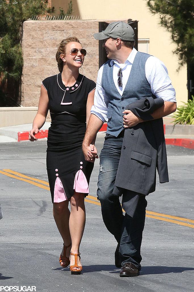 Britney Spears and her new boyfriend, David Lucado, shared a sweet look in LA.