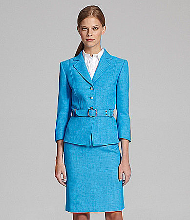 Tahari by ASL Textured Skirted Suit
