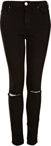 MOTO Black Rip Knee Jamie Jeans