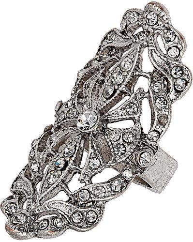 Crystal Embellished Filigree Ring