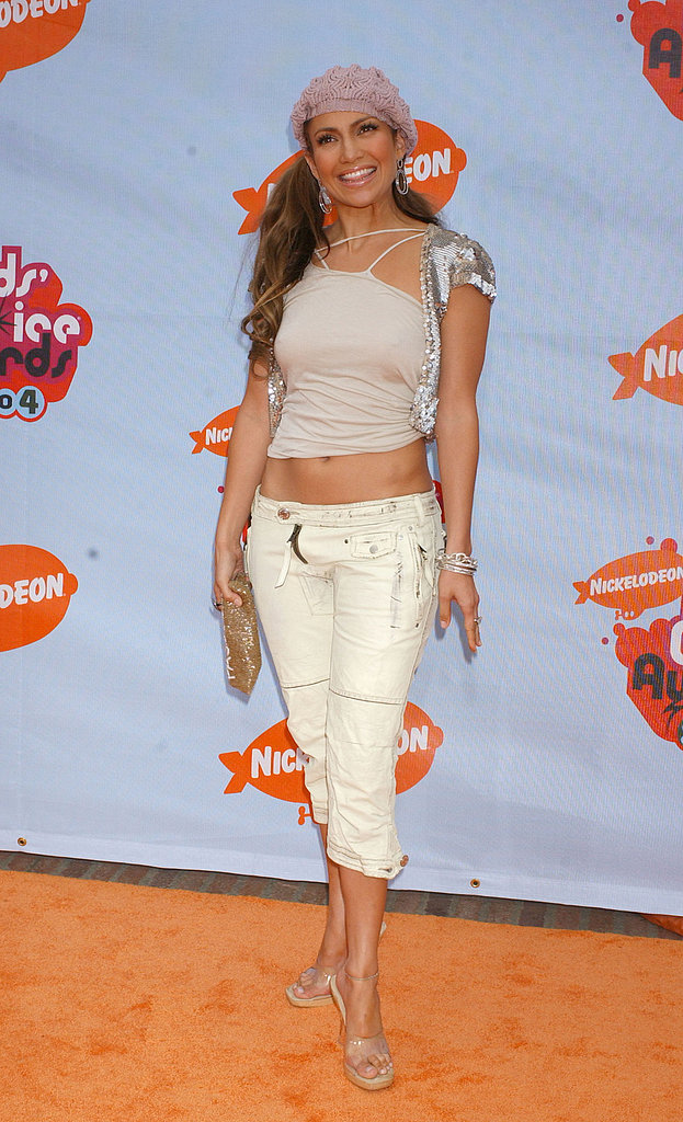 Jennifer Lopez showed off her abs in a tank-and-capri combo in 2004.