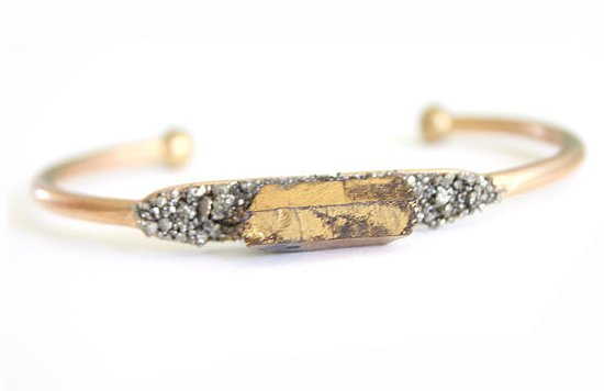 Now that I've done some Spring-cleaning in my closet (and jewelry case), I think it's the perfect time to update my arsenal with a simple yet statement-making piece. Enter Dea Dia Raw Crystal Pyrite Bangle ($29), which has a bohemian-chic, vintage-inspired feel that I love. While I'll likely be adding it to my current arm party, it would look just as gorgeous on its own. — Britt Stephens