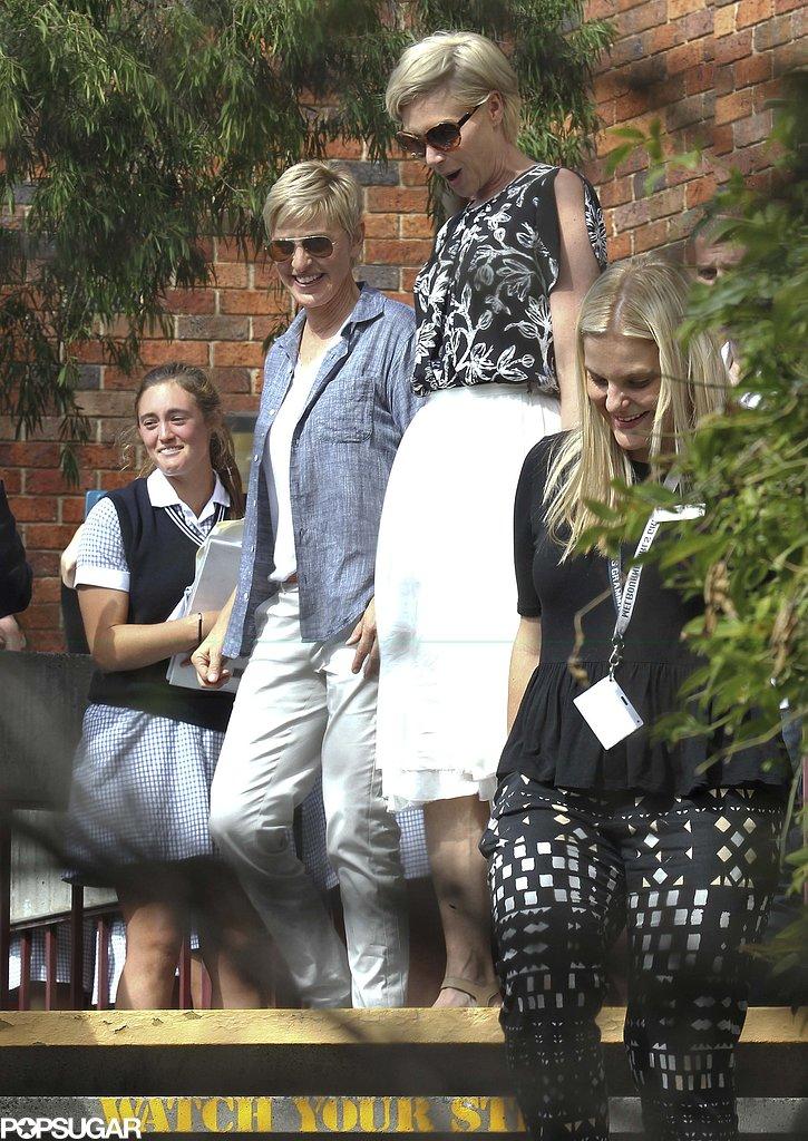 Ellen and Portia Take a Walk Down Memory Lane in Melbourne