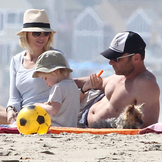 Naomi Watts, Liev Schreiber and Sons at the Beach | Pictures