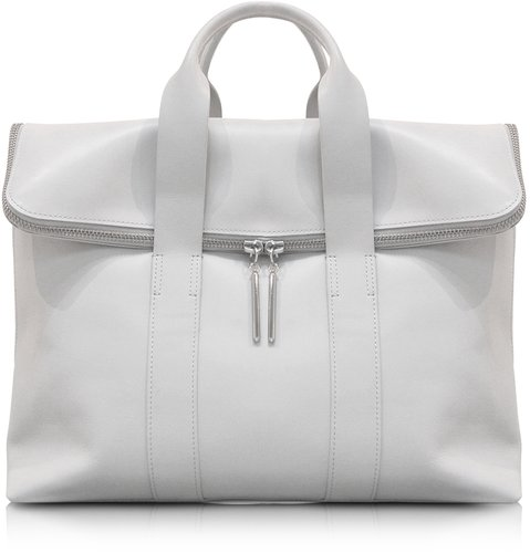 3.1 Phillip Lim 31 Hour Bag - Light Gray Leather Tote