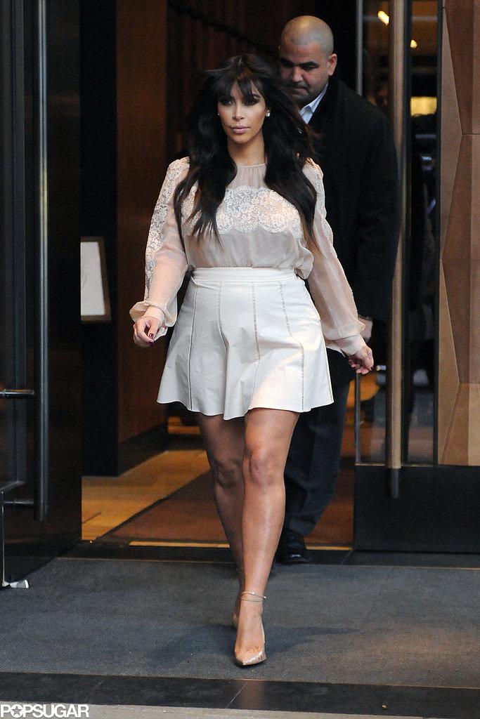 Kim Kardashian Shows Her Bump in Three Sexy Styles