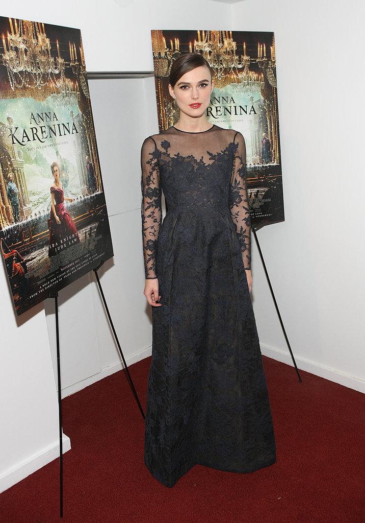 Keira Knightley at the Anna Karenina New York Premiere