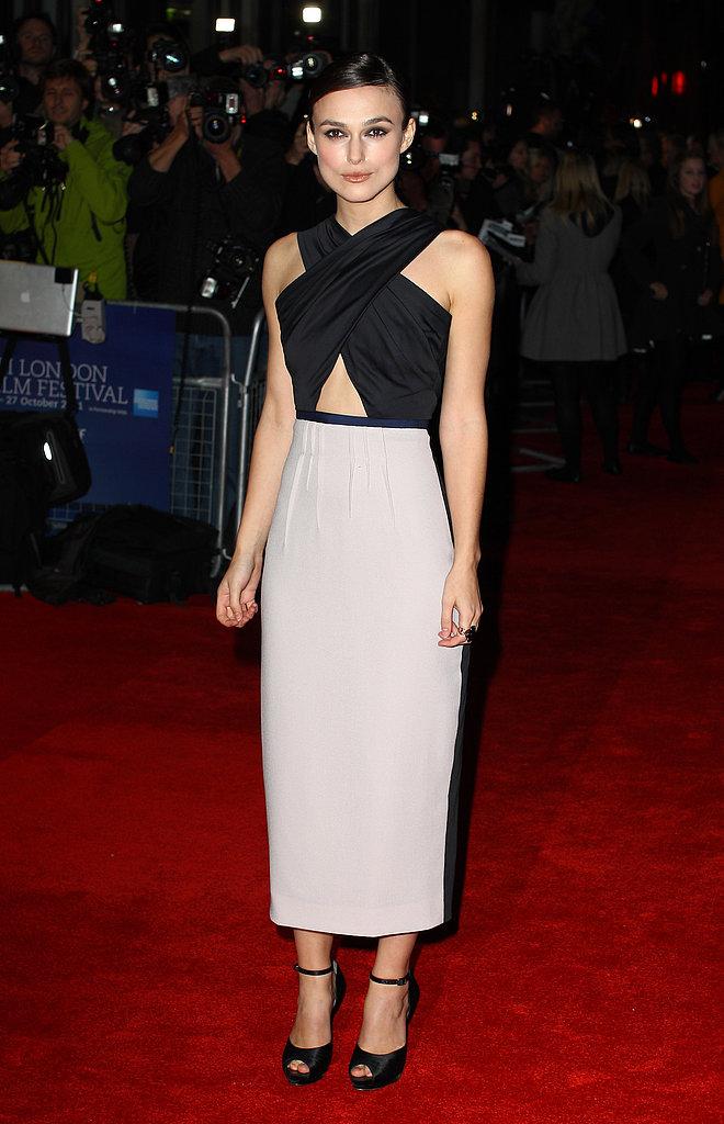 Keira Knightley at the 2011 BFA London Film Festival